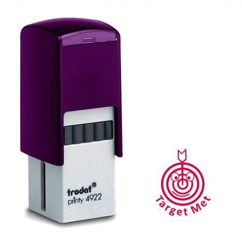 Trodat Teachers Stamp - Target met - Red