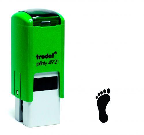 Trodat Teachers Stamp - Footprint - Black