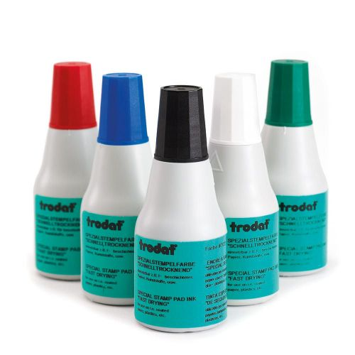 Trodat Quick Drying Black Ink - 25ml Bottle