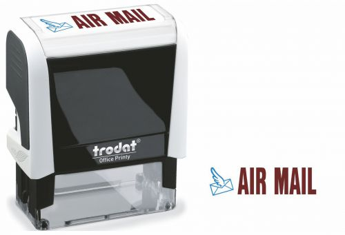 Trodat Office Printy Word Stamp AIR MAIL Red/Blue Code