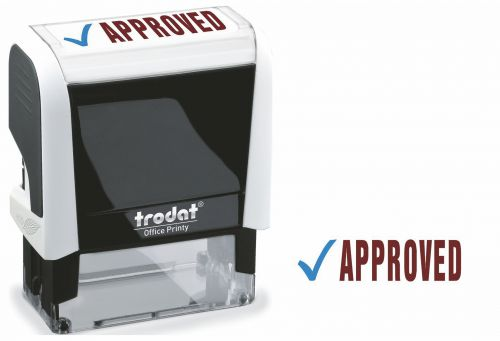 Trodat Office Printy Word Stamp APPROVED Red/Blue Code