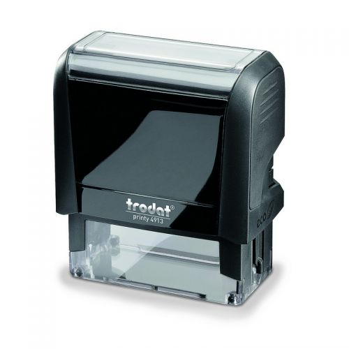 Trodat MCI Printy 4913 Self Inking Custom Stamp. Imprint Area 57 x 21 mm - 6 lines maximum