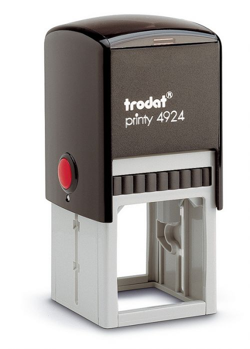 Trodat Printy 4924 Self Inking Custom Stamp. Imprint Area 37 x 37 mm - 10 lines maximum