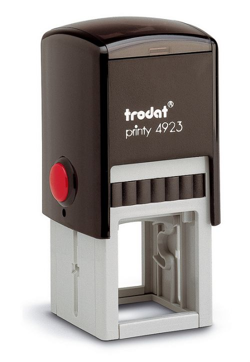 Trodat Printy 4923 Self Inking Custom Stamp. Imprint Area 27 x 27 mm - 6 lines maximum
