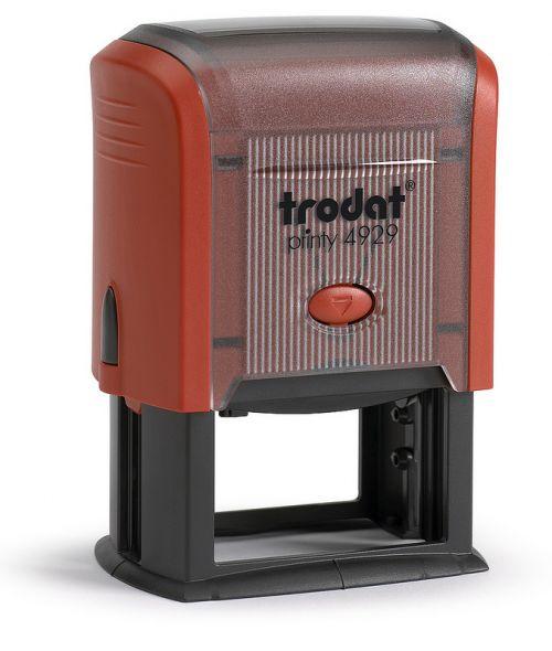 Trodat MCI Printy 4929 Self Inking Custom Stamp. Imprint Area 48 x 28 mm - 6 lines maximum