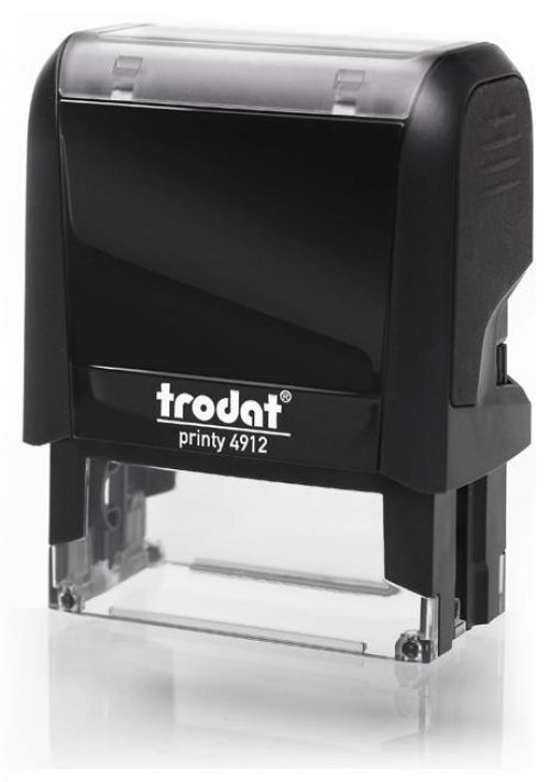 Trodat MCI Printy 4912 Self Inking Custom Stamp. Imprint Area 45 x 17 mm - 4 lines maximum