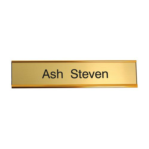 Trodat Gold door nameplate 250 x 50mm
