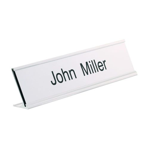 Trodat Silver desk nameplate 200 x 50mm