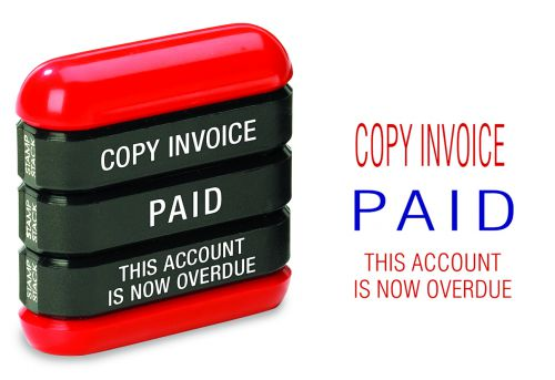 Trodat 3-in-1 Stamp Stack Accounts - Copy Invoice - Paid - this Account is Now Overdue