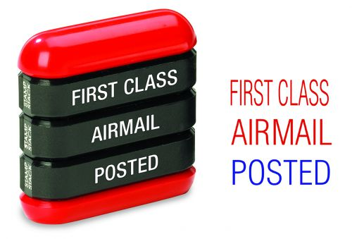 Trodat  3-in-1 Stamp Stack Mail - First Class - Airmail - Posted