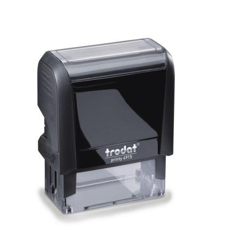 Trodat MCI Printy 4915 Self Inking Custom Stamp. Imprint Area 68 x 22 mm - 6 lines maximum