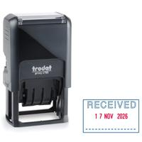 Trodat Printy 4750/L1 Dater Stamp Self-Inking Word/Date Received in Blue Date in Red Ref 139923