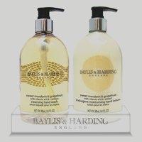 Bayliss and Harding Hand Wash/Lotion Set Mandarin/Grapefruit 2 x 500ml Ref 0604267