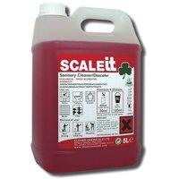 Clover SCALEit Toilet & Urinal Sanitary Cleaner Descaler 5 Litre Ref 40525