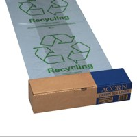 Acorn Waste Paper Recycling Bin Liners 60 Litres Clear And Printed Ref GREENBINLINERS Packed 50