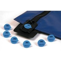 Plain Round Security Seals Blue Pk500