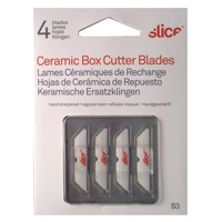 Slice Hand Sharpened Ceramic Blades For Slice Cutters 34mm Length Packed 4 Ref 10404