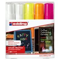 Edding Chalk Markers 4-15mm Chisel Tip Assorted Pack 5