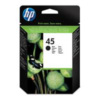 HP Inkjet Cartridge No.45A Black Ref 51645AE Each