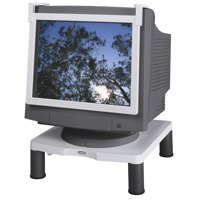 Fellowes Standard Monitor Riser 17in CRT 21in TFT 3 Heights 51-102mm Grey Ref 91712 Each