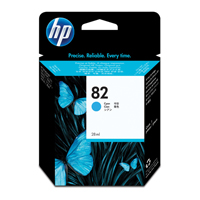 HP No.82 Inkjet Cartridge 69ml Cyan Ref C4911A Each