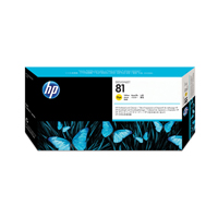 HP No.81 Dye Printhead and Printhead Cleaner Yellow Code C4953A Each
