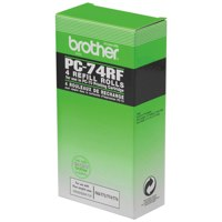 Brother Fax Ribbon Black for T74/76 Pack 4 Ref PC74RF