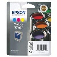 Epson C62 Inkjet Cartridge Tri-Colour Ref C13T04104010 Each