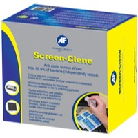 AF Screen-Clene Duo Glass/Screen Cleaning Wet/Dry Anti-Static Wipes Pack 20 Ref SCR020