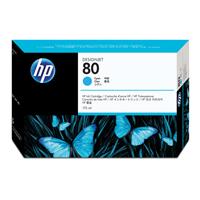 HP No.80 Inkjet Cartridge 175ml Cyan Ref C4872A Each