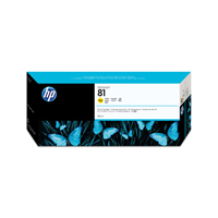 HP No.81 Inkjet Cartridge 680ml Yellow Code C4933A Each