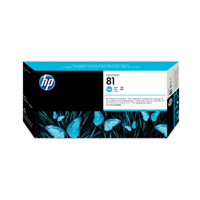 HP No.81 Printhead And Printhead Cleaner Cyan Code C4951A Each