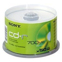 Sony CD-R 80M 700Mb 50 Pack Spindle