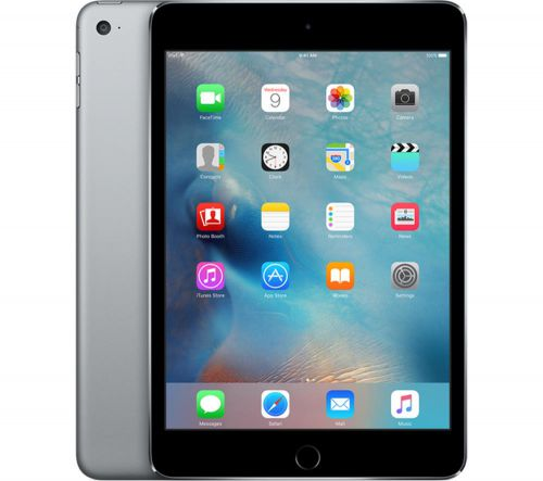Apple iPad Mini 4 (7.9 inch Multi-Touch) Tablet PC 128GB WiFi Bluetooth Camera Retina Display iOS 9.0 (Space Grey)