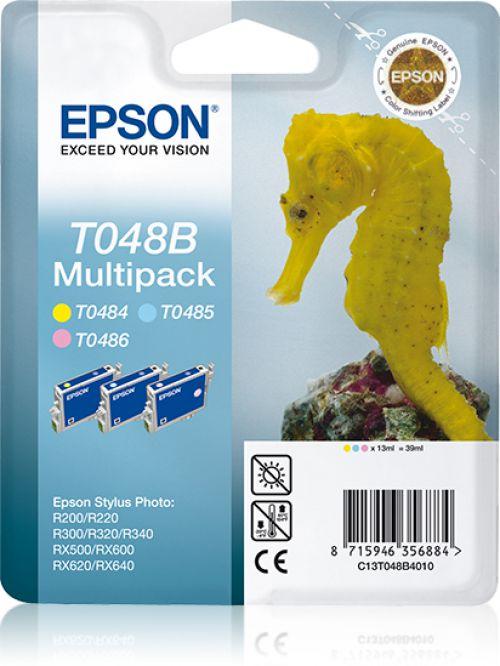 Epson T048B Lt.Cy/Lt.Mg/Ylw Cartridge Pk