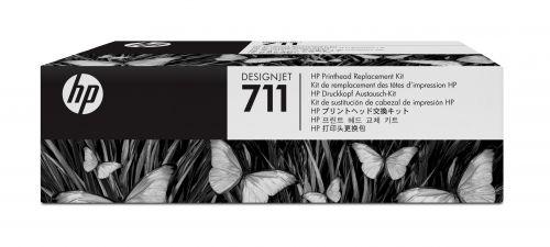 HP 711 Bk/Cy/Mag/Yw Printhead Kit C1Q10A