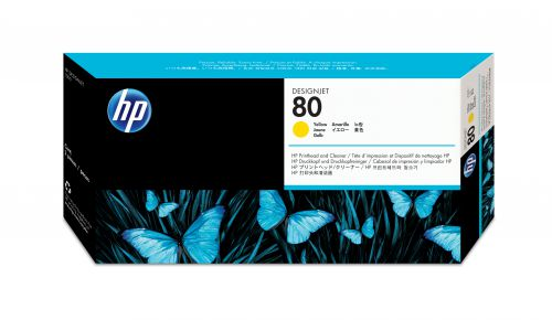 HP 80 Yellow Printhead/Cleaner C4823A