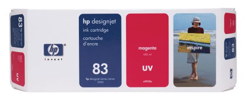 HP 83 Magenta UV Inkjet Cartridge C4942A