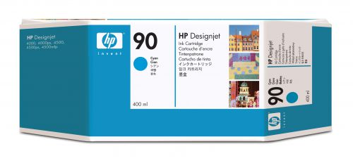 HP 90 Cyan Inkjet Cartridge Pk3 C5083A