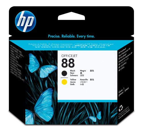 HP 88 (Yield: 41,500 Pages) Black/Yellow Inkjet Printhead
