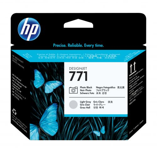 HP 771 Ph Black/Lt Grey Printhead CE020A