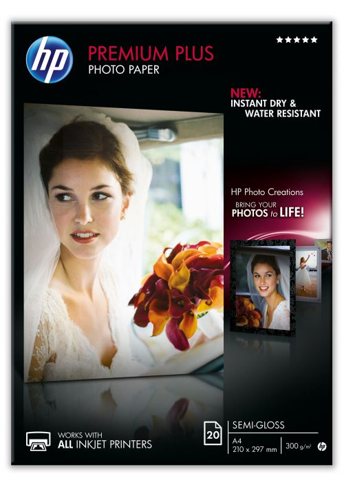 HP A4 Semi-Gloss Photo Paper Pk20 CR673A