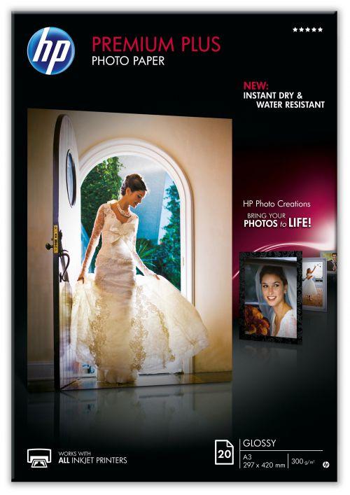 HP Premium Plus A3 Photo Paper Pk20