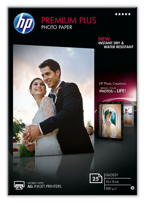 HP Premium Plus 10x15cm Photo Paper P25