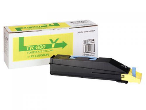 Kyocera Yellow TK-880Y Toner Cartridge