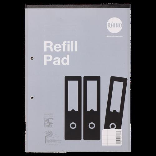 Rhino Varsity Refill Pad 8mm Ruled Margin Headboun d A4 80 Leaves Pack of 10 V4FMH 3P