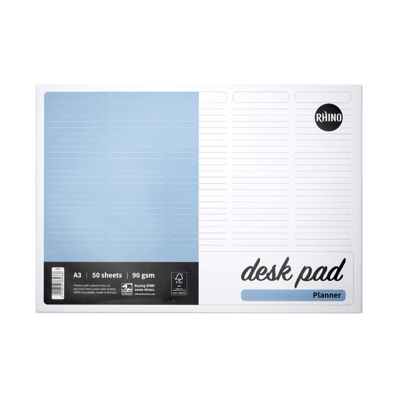 Rhino Desk Pad A3 Planner 90gsm 50 Sheets RDPP