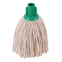 Image for 2Work 12oz PY Smooth Socket Mop Green (Pack of 10) PJYG1210I