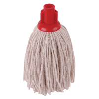 Image for 2Work 12oz PY Smooth Socket Mop Red (Pack of 10) PJYR1210I