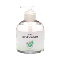 2Work Alcohol Hand Sanitiser Pump 300ml (Pack of 6) 2W22906
